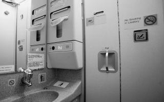 Туалет в самолете: как пользоваться, принцип работы